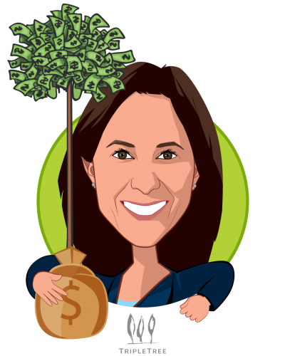 Overlay caricature of Dawn Owens, who is speaking at HLTH and is President at TripleTree