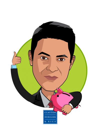 Overlay caricature of Ravi Sachdev, who is speaking at HLTH and is Partner at Clayton, Dubilier & Rice