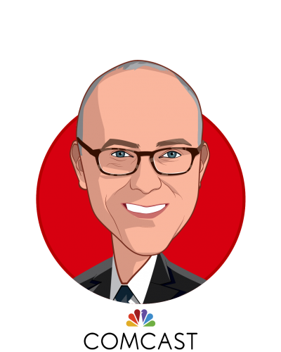 Main caricature of Shawn E. Leavitt, who is speaking at HLTH and is SVP, Total Rewards at Comcast Corporation