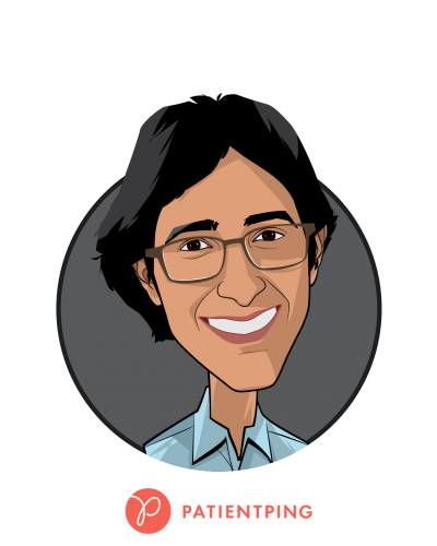 Main caricature of Jay Desai, who is speaking at HLTH and is Co-Founder and CEO at PatientPing