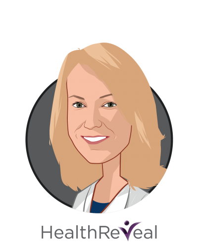 Main caricature of Lori Evans Bernstein, MPH, who is speaking at HLTH and is Co-Founder & Chief Operating Officer at HealthReveal