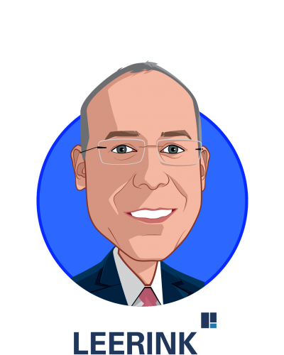 Main caricature of Ryan Stewart, who is speaking at HLTH and is Managing Director, Head of HC:Tech/Services at LEERINK Partners