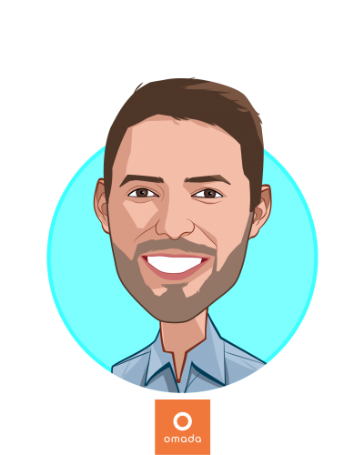 Main caricature of Sean Duffy, who is speaking at HLTH and is Co-founder and CEO at Omada Health