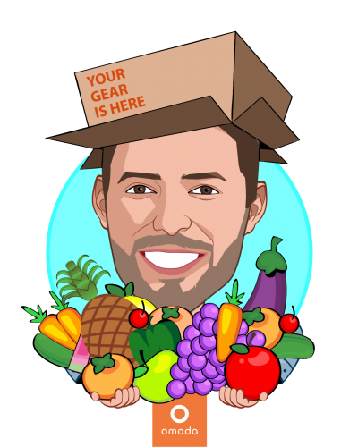 Overlay caricature of Sean Duffy, who is speaking at HLTH and is Co-founder and CEO at Omada Health