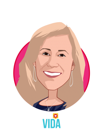Main caricature of Stephanie Tilenius, who is speaking at HLTH and is Founder and CEO at Vida Health