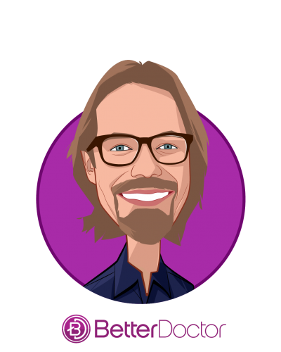 Main caricature of Ari Tulla, who is speaking at HLTH and is CEO & Co-Founder at BetterDoctor
