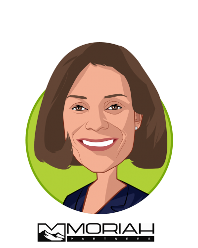 Main caricature of Jacqueline Kosecoff, PhD, who is speaking at HLTH and is Managing Partner at Moriah Partners, LLC