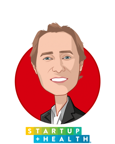 Main caricature of Unity Stoakes, who is speaking at HLTH and is Co-Founder & President  at StartUp Health