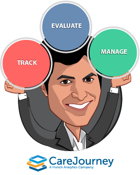 Overlay caricature of Aneesh Chopra, who is speaking at HLTH and is Former CTO of the United States; President, CareJourney at CareJourney
