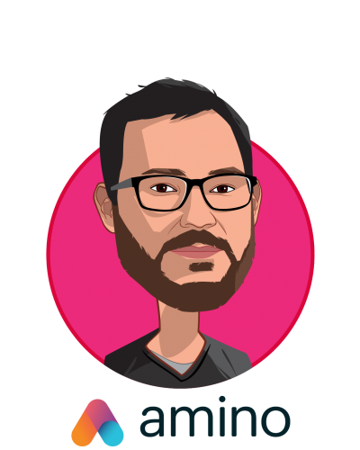 Main caricature of David Vivero, who is speaking at HLTH and is Co-founder and CEO at Amino