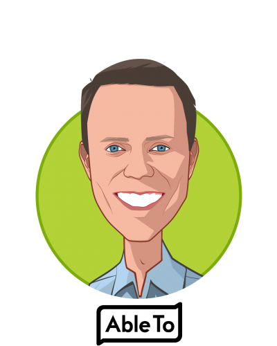 Main caricature of Rob Rebak, who is speaking at HLTH and is President & CEO at AbleTo Inc.