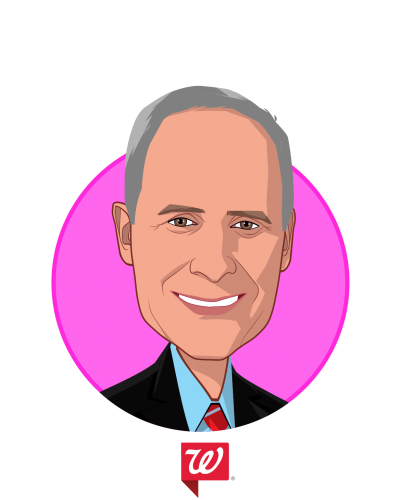 Main caricature of Patrick H. Carroll, MD, who is speaking at HLTH and is Chief Medical Officer at Walgreen Co.
