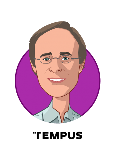Main caricature of Eric Lefkofsky, who is speaking at HLTH and is Founder and CEO at Tempus