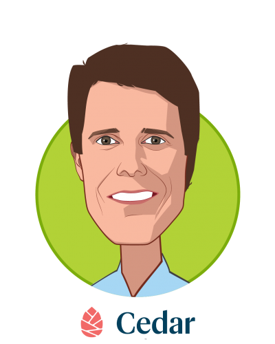 Main caricature of Florian Otto, who is speaking at HLTH and is Founder & CEO at Cedar