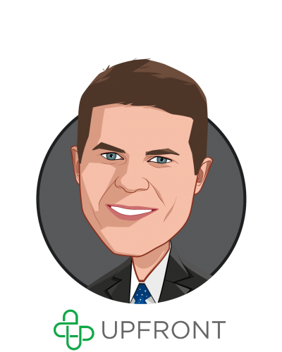 Main caricature of Ben Albert, who is speaking at HLTH and is Co-Founder and CEO at Upfront