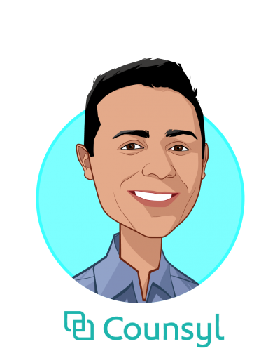 Main caricature of Ramji Srinivasan, who is speaking at HLTH and is Co-Founder and Chief Executive Officer at Counsyl