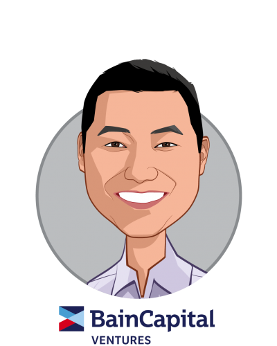 Main caricature of Yumin Choi, who is speaking at HLTH and is Managing Director at Bain Capital Ventures