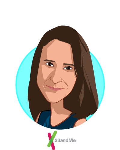 Main caricature of Anne Wojcicki, who is speaking at HLTH and is CEO and Co-Founder at 23andMe