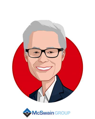 Main caricature of Chris McSwain, who is speaking at HLTH and is Co-Founder at McSwain Group, LLC