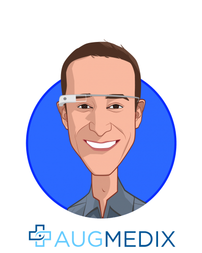 Main caricature of Ian Shakil, who is speaking at HLTH and is CEO & Co-Founder at Augmedix Inc.