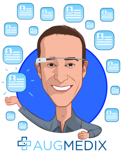 Overlay caricature of Ian Shakil, who is speaking at HLTH and is CEO & Co-Founder at Augmedix Inc.