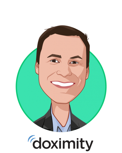 Main caricature of Nate Gross, MD, who is speaking at HLTH and is Co-Founder at Doximity