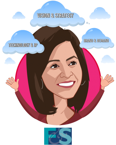 Overlay caricature of Reenita Das, who is speaking at HLTH and is Partner, Senior Vice President at Frost & Sullivan