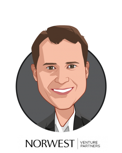 Main caricature of Robert Mittendorff, MD, who is speaking at HLTH and is Partner at Norwest Venture Partners