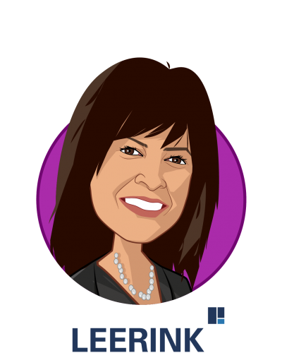 Main caricature of Ana Gupte, who is speaking at HLTH and is Managing Director, Senior Research Analyst at Leerink Partners