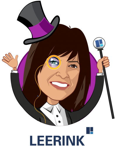 Overlay caricature of Ana Gupte, who is speaking at HLTH and is Managing Director, Senior Research Analyst at Leerink Partners