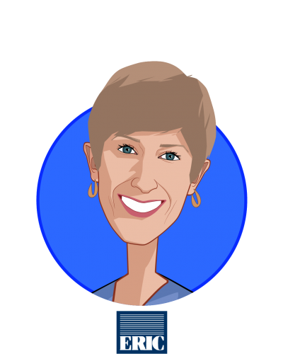 Main caricature of Annette Guarisco Fildes, who is speaking at HLTH and is President and CEO at The ERISA Industry Committee (ERIC)