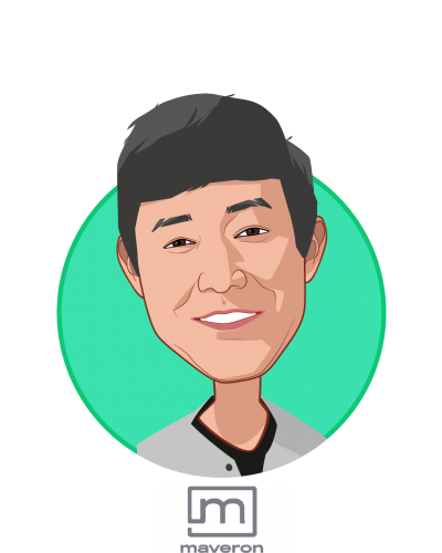 Main caricature of David Wu, who is speaking at HLTH and is General Partner at Maveron