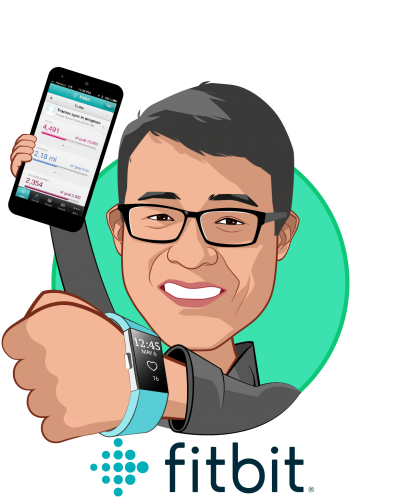 Overlay caricature of James Park, who is speaking at HLTH and is Co-founder and CEO at Fitbit