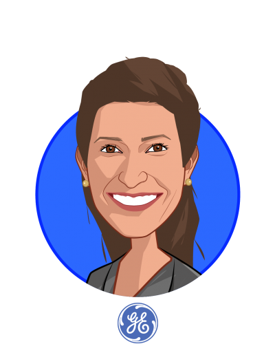 Main caricature of Jessica Zeaske, who is speaking at HLTH and is Director Healthcare Investments at GE Ventures