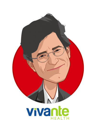 Main caricature of Kimon Angelides, who is speaking at HLTH and is Founder and CEO at Vivante Health