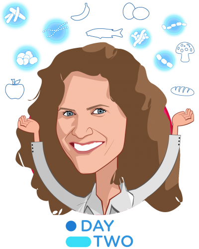 Overlay caricature of Lihi Segal, who is speaking at HLTH and is CEO & Co-Founder at DayTwo