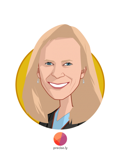 Main caricature of Linda Avey, who is speaking at HLTH and is CEO at Precise.ly