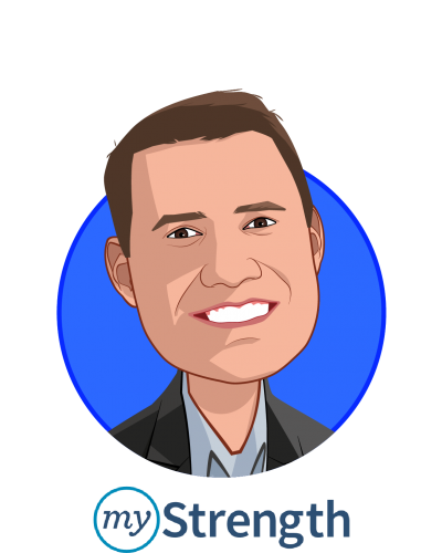 Main caricature of Matt Sopcich, who is speaking at HLTH and is President & Co-Founder at myStrength, Inc.