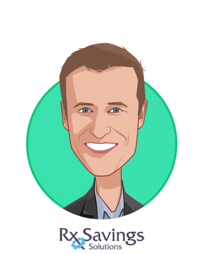 Main caricature of Michael Rea, PharmD, who is speaking at HLTH and is Founder & CEO at Rx Savings Solutions