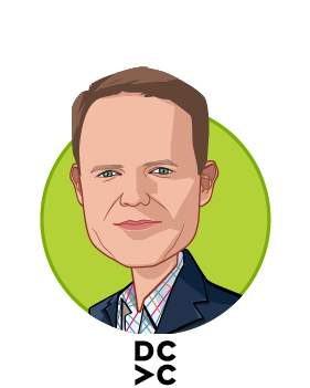 Main caricature of Scott Barclay, who is speaking at HLTH and is Partner at Data Collective