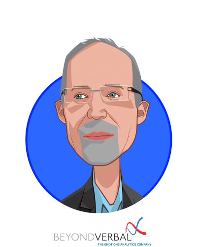 Main caricature of Yuval Mor, who is speaking at HLTH and is Co-Founder & CEO at Beyond Verbal Communication Ltd.