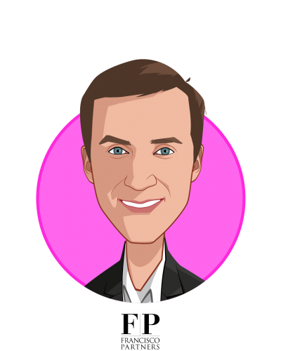 Main caricature of Chris Adams, who is speaking at HLTH and is Partner at Francisco Partners