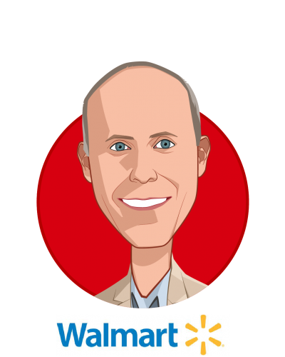 Main caricature of David Hoke, who is speaking at HLTH and is Sr. Director, Associate Health and Well-Being at Walmart