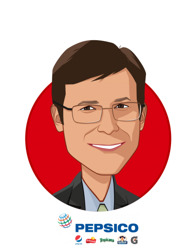 Main caricature of Erik Sossa, who is speaking at HLTH and is Vice President, Global Benefits & Wellness at PepsiCo, Inc.