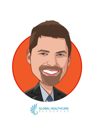Main caricature of Jonathan Edelheit, JD, who is speaking at HLTH and is Principal & Co-Founder at Global Healthcare Resources