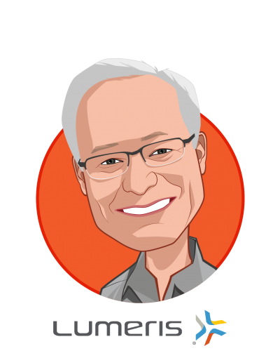 Main caricature of W. Michael Long, who is speaking at HLTH and is Chairman and Chief Executive Officer at Essence Group Holdings Corporation and Lumeris Corporation