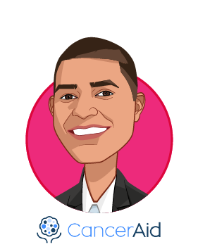 Main caricature of Nikhil Pooviah, who is speaking at HLTH and is Co-Founder & CEO at CancerAid