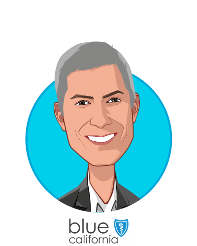 Main caricature of Paul Markovich, who is speaking at HLTH and is President & CEO at Blue Shield of California