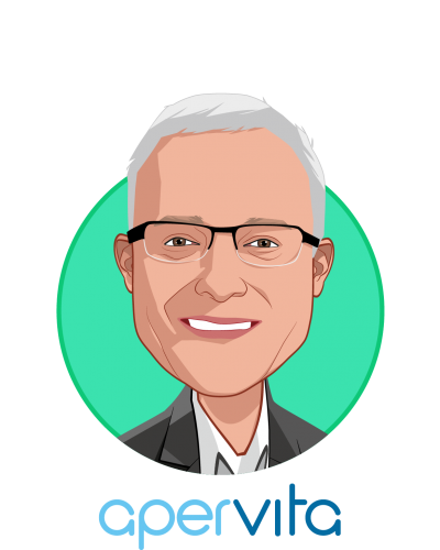 Main caricature of Paul Magelli, who is speaking at HLTH and is CEO at Apervita, Inc.