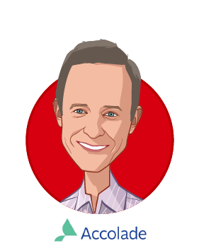 Main caricature of Tom Spann, who is speaking at HLTH and is Founder and Chairman at Accolade